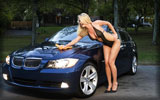 BMW 3-Series (E90), Navy, Blonde, Cars & Girls, Car Wash