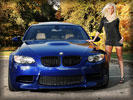 Blue BMW E92 M3, Cars & Girls, Blonde Girl