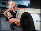 White BMW Z3, Cars & Girls, Blonde Girl