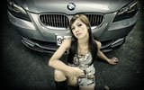 BMW E60 M5, Cars & Girls, Asian Girl