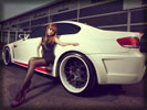 2008 White BMW E92 M3, Cars & Girls, Asian Girl, Legs, Feet