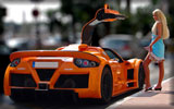 Orange Gumpert Apollo, Blonde, Cars & Girls