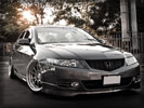 Honda Accord, Gray, Tuning, Silver Rims
