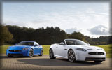 2012 Jaguar XKR-S: White Convertible & Blue Coupe
