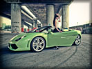 Lamborghini Gallardo, Lime Green, Cars & Girls