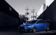 Mitsubishi Lancer Evolution X, Blue, Tuning
