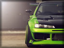 Nissan Silvia S14, Lime Green, Tuning