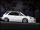 Subaru Impreza, White, Tuning