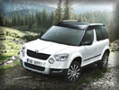 Skoda Yeti, White, Off-Road