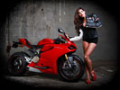 Red Ducati 1199 Panigale, Bikes & Girls, Feet