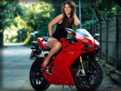 Red Ducati 1098s, Bikes & Girls