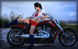 Girl on Harley-Davidson, Bikes & Girls