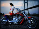 Harley-Davidson, Asian Girl, Bikes & Girls