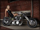 Harley-Davidson, Blonde Girl, Bikes & Girls