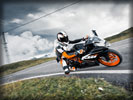 2014 KTM RC200 on the Road, Black