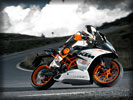 2014 KTM RC390 on the Road, White