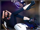 Triumph, Bikes & Girls, High Heels, Feet