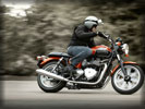 2012 Triumph Bonneville on the Road