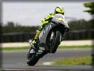 Valentino Rossi on Yamaha M1, MotoGP
