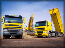 DAF CF Trucks, Yellow