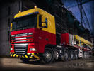 DAF XF 105, Red/Yellow