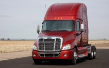 2009 Freightliner Cascadia, Red
