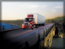 Freightliner Columbia over the Bridge