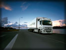 Mercedes-Benz Actros on the Road, White