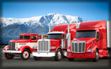 Peterbilt Trucks, Red