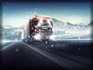 Scania Truck, Snowfall, Snow, Winter