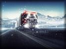 Scania Truck, Snowfall, Snow, Winter