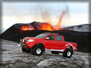 Toyota Hilux near Volcano